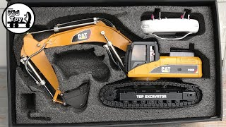 RC EXCAVATOR UNBOXING    TOYS REVIEW    HUINA 580 HYDRAULIC FULLY METAL MODIFIED