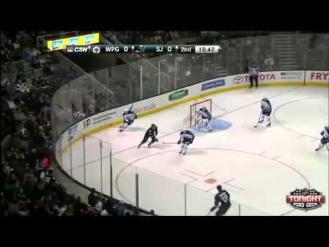 Winnipeg Jets vs San Jose Sharks (NHL 2013-2014. Regular Season) (23.01.2014)