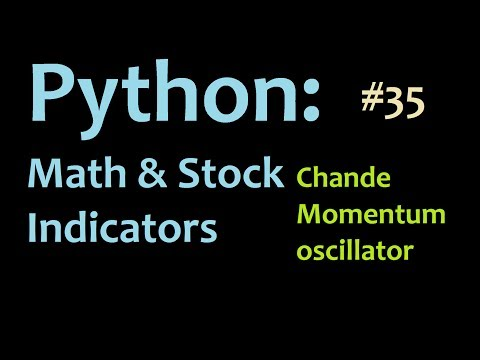 Python math and stocks: How to program the Chande Momentum Oscillator