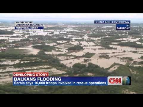 Flood Balkan, Jadranka Bugarski N1 for CNN