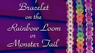 New Friendship Circle Bracelet- Rainbow Loom, Monster Tail