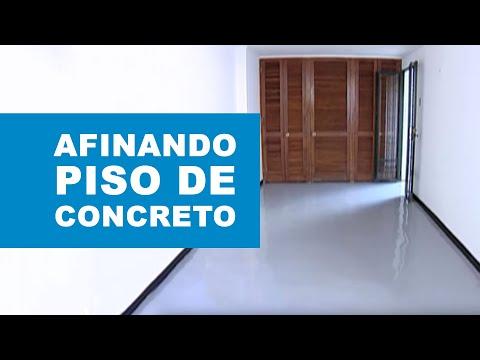 ¿Cómo afinar un piso de concreto?