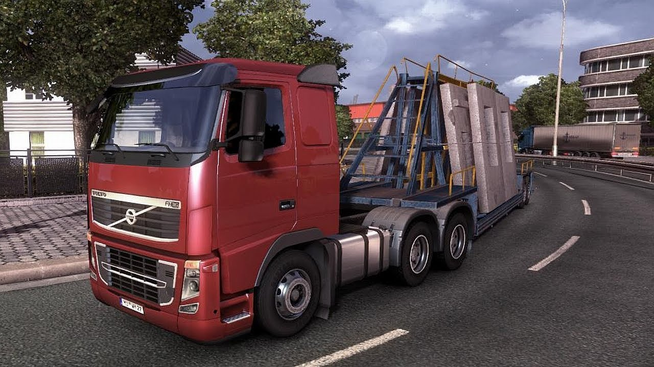 euro truck simulator 2 volvo fh16 6x4 transporting wall panels from hamburg to bremen youtube. Black Bedroom Furniture Sets. Home Design Ideas