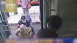 Watch: Bus driver helps disabled passenger onto the bus