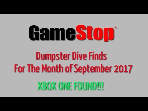 GameStop  Dumpster Dive Sept. 2017 - Finds for the Month