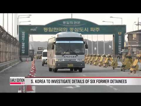 North Korea - Six detained S. Koreans handed over to Seoul authorities from N. Korea