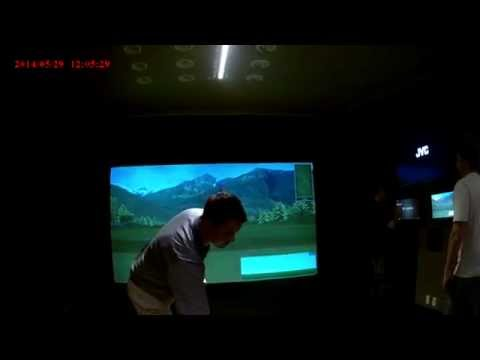 Chad Coleman explaining the Full Swing Golf Simulator Technology 4
