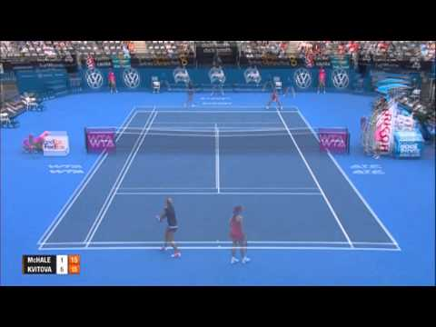 Christina MCHALE USA vs Petra KVITOVA CZE Highlights Apia International Sydney 2014