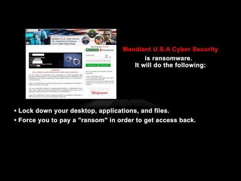 How To Remove Mandiant U.S.A Cyber Security