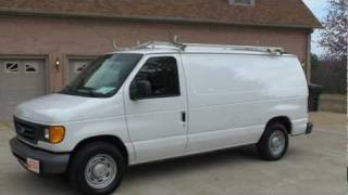 2006 FORD E 150 CARGO VAN WORK FOR SALE SEE WWW SUNSETMILAN COM videos