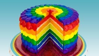 Rainbow Cake: How To Make A Rainbow Cake By Cookies