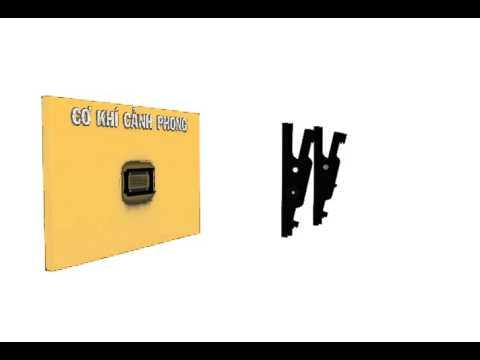 hướng dẫn lắp ráp khung treo nghiêng