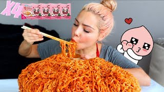 NEW CARBO FIRE NOODLE (LIMITED EDITION) 먹방 MUKBANG & HOTDOG