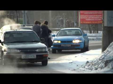 Драка на дороге в Красноярске на Мичурина - drakoff.ru