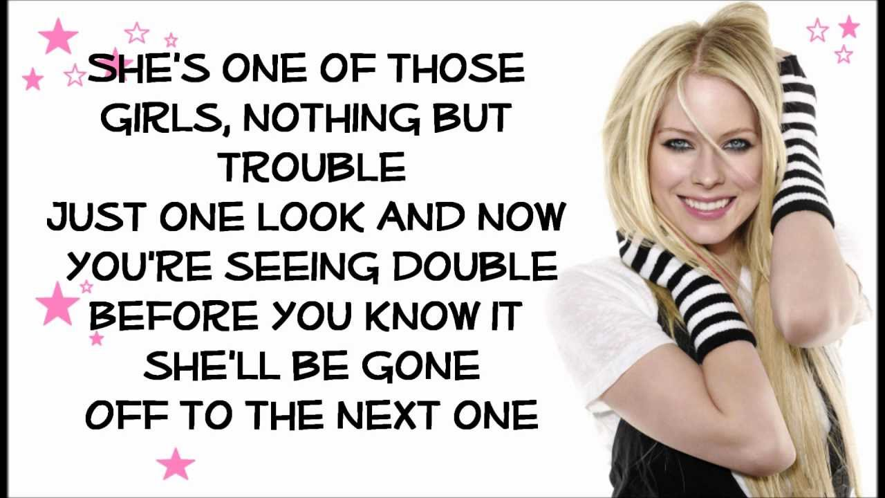 Avril Lavigne - One Of Those Girls (with lyrics) HD - YouTube