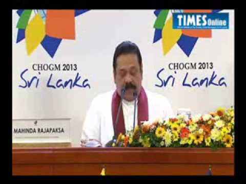 President Rajapaksa's opening remarks at Pre CHOGM media briefing