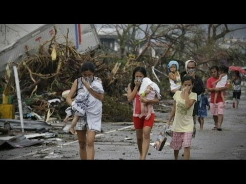 Super-Typhoon Cuts Trail of Destruction in Philippines