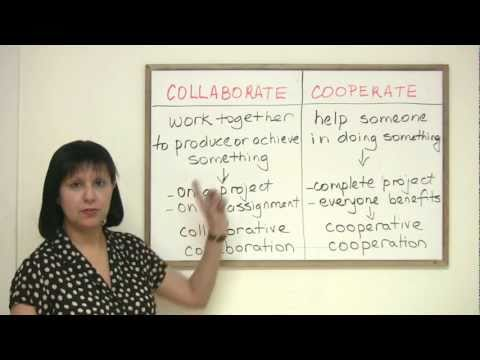 Business English Vocabulary - COLLABORATE or COOPERATE?
