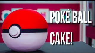 How To Make A POKÉMON GO Poké Ball CAKE! Chocolate Cake With Italian Meringue Buttercream!