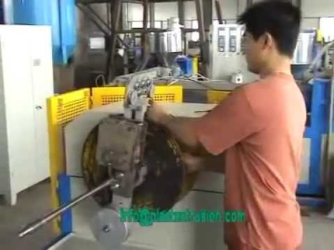 SJ65 30 pvc steel wire reinforced hose extrusion line