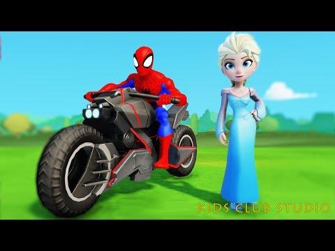 Người Nhện Siêu Đẳng Spiderman cứu Công Chúa Frozen Elsa! Nhạc Thieu Nhi soi dong [Kids Club Studio]