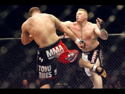 Brock Lesnar vs Frank Mir FULL FIGHT - UFC 100