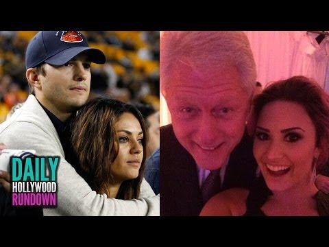 ENGAGED! MILA KUNIS & ASHTON KUTCHER, SELENA AND DEMI HONORED WITH FORMER PRESIDENT CLINTON