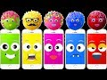 Wrong Heads Phone Colorful Pop Cakes Finger Family Colors Learn