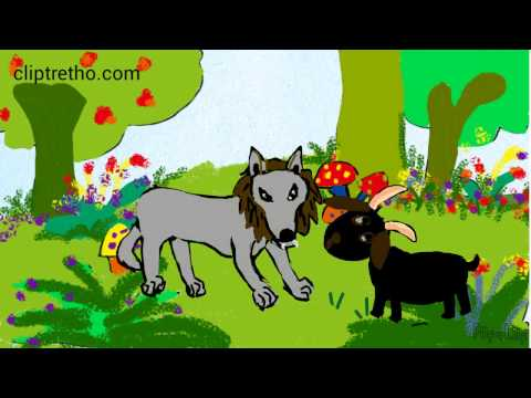 kể chuyện dê đen và dê trắng cho con nghe, chú dê đen dũng cảm_black goat and white goat