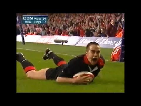 Rhys Williams try vs Tonga 2001