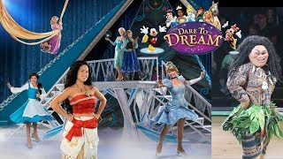 Disney Princess Party on Ice Dare to Dream Brooke and Azlynn Show