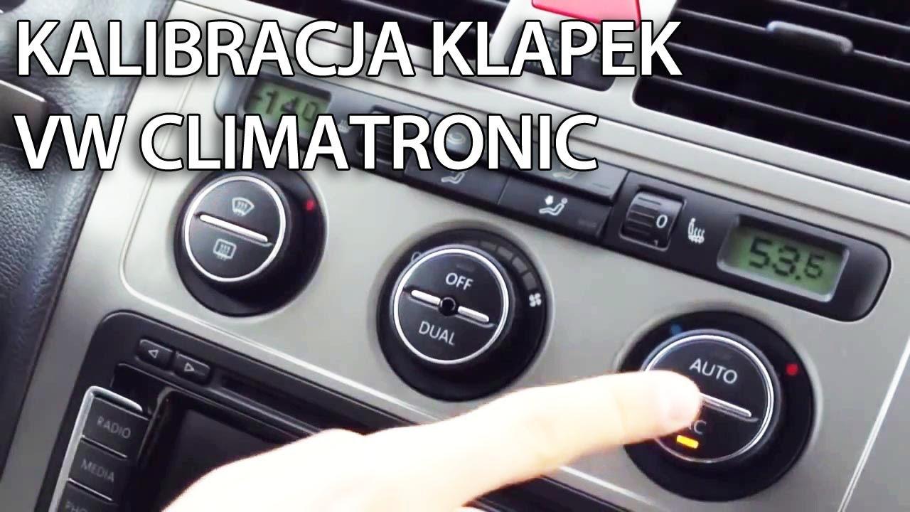Reset klapek w VW Climatronic (Golf, Passat, Jetta, Scirocco, Touran) naprawa kalibracja - YouTube