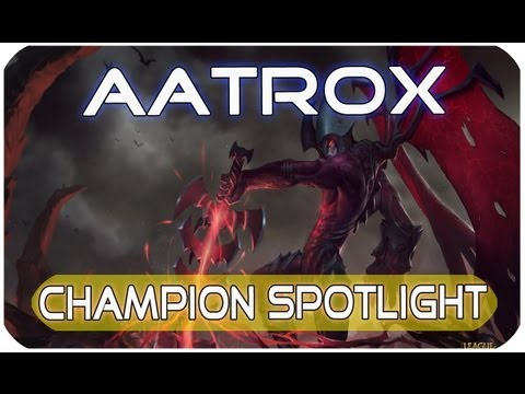 League of Legends Champion Spotlight Aatrox [GERMAN/Deutsch | HD ] The Darkin Blade