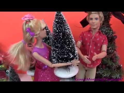 ✿Cuộc Sống Búp Bê barbie & Ken (tap 8)✿ Barbie & Chelsea Trang Trí Thông Noel