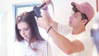 MY FIANCE TRIES TO DO MY HAIR