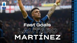 LAUTARO MARTINEZ | FAST GOALS COMPILATION | INTER 2019/20 | SERIE A TIM ⚡⚫🔵🐂??