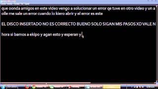 Solucion A Error De EL DISCO INSERTADO NO ES CORRECTO GTA