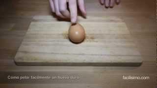 Como pelar facílmente un huevo duro