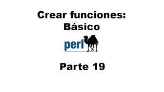Perl tutorial. Parte 19
