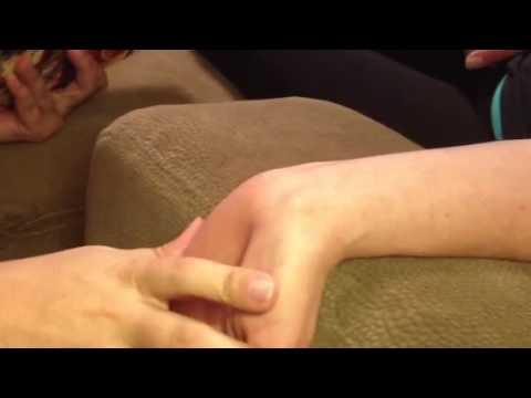 Smashing a ganglion cyst