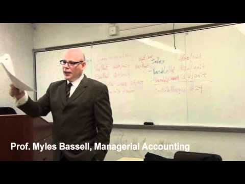 6 of 10 Managerial Accounting Basics - 6 Contribution Margin, Break-even point, CM Income Statement