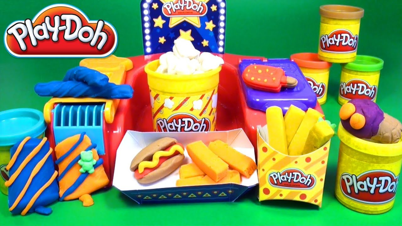 Play doh fun food poppin movie snacks playset tv party for Play doh cuisine