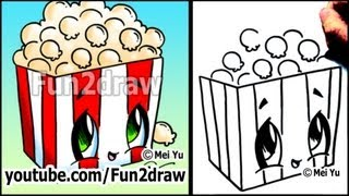 Movie Popcorn How To Draw Toons (Easy Cartoon Art Lesson