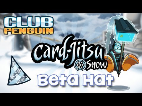 Club Penguin Card Jitsu Snow Beta Hat April 2013, Help Club Penguin beta test Card Jitsu Snow and earn the exclusive Card Jitsu Snow beta hat! Beta test today at beta.clubpenguin.com The beta hat is NO LONGE...