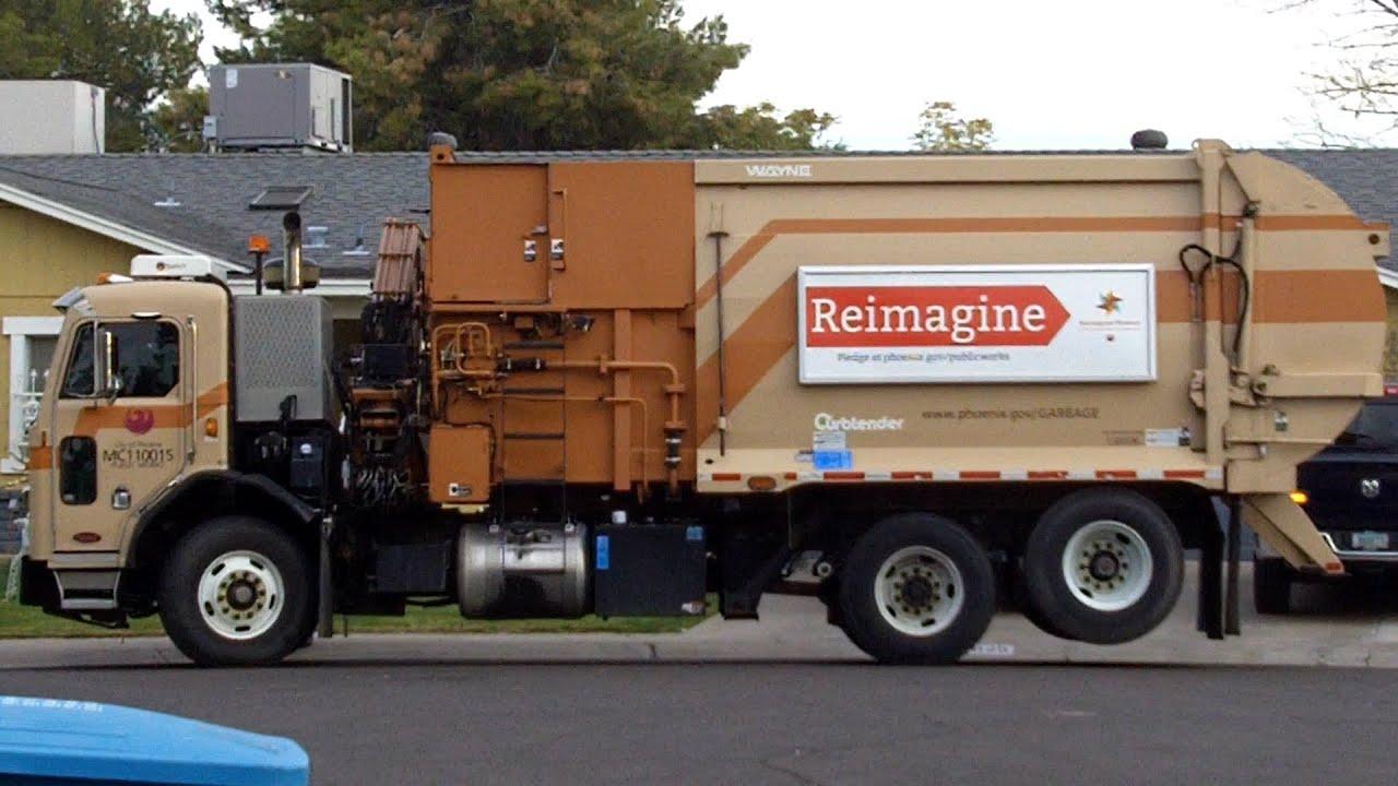 Snap Manual Side Loader Garbage Truck Food Waste Youtube Photos On Mcneilus Wiring Schematic Rear Packer Phoenix Az Peterbilt Wayne Curbtender 130206