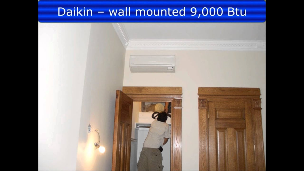 NYC Daikin Multi zone Ductless Air conditioning heat pump.wmv  #032EC8