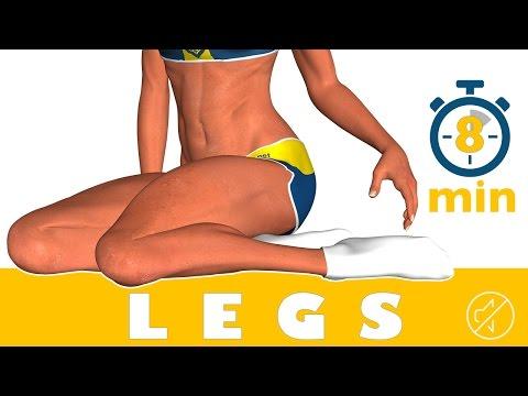 8 dakikada bacak egzersizi - No Music