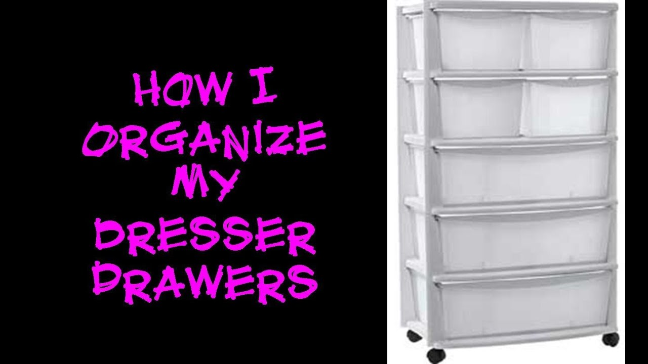 Clothing organization how i organize my dresser drawers How to store clothes without a dresser