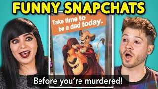 10 FUNNY SNAPCHAT PHOTOS with TEENS & ADULTS (React)