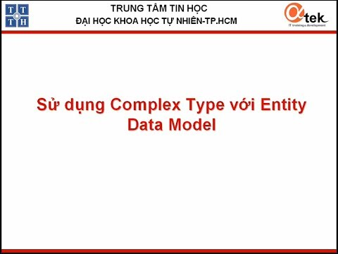 Sủ dụng ComplexType với Entity Data Model